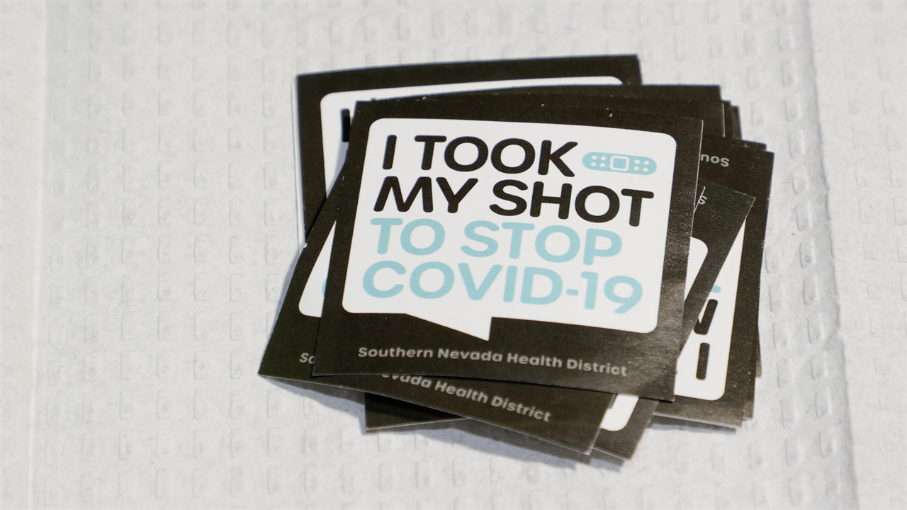 stickers given out to people who get vaccinated